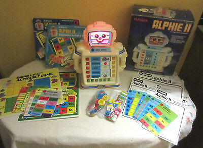 Playskool Alphie II Robot Computer with box & Two Activity Sets