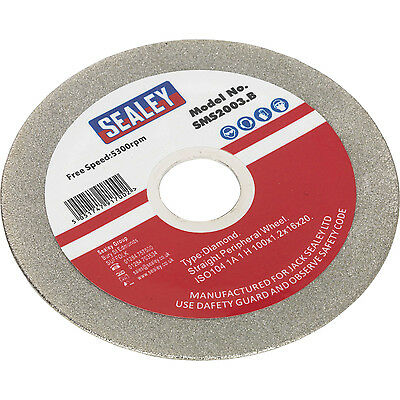 Sealey Diamond Grinding Disc 100mm for SMS2003 Saw Blade Sharpener