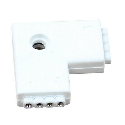 SA 1pc RGB L Shaped 4Pins 2Way Female Connector Adapter For 5050 LED Strip Light
