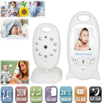 "2"" Baby Monitor Wireless Digitale Videocamera LCD Citofono per Sicurezza 2 vies"