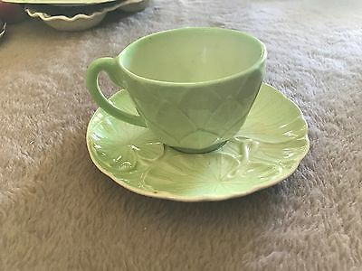Carlton Ware Green Cup & Saucer