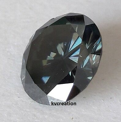 Sparking 2.90 Ct/vs1 9.90 Mm Dark Gray Round Cut Loose Real Moissanite 4 Ring Kv