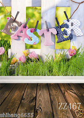 Easter Vinyl Photography Backdrop Background Studio Photo Props 5x7FT ZZ467 US