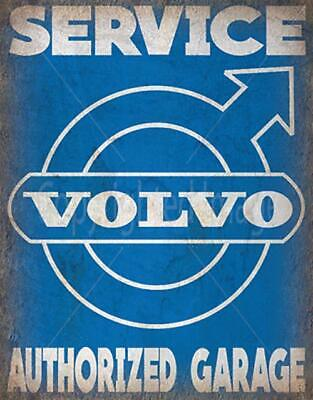 Volvo Authorized Garage Vintage Style Garage Metal Tin Sign Poster Wall Plaque