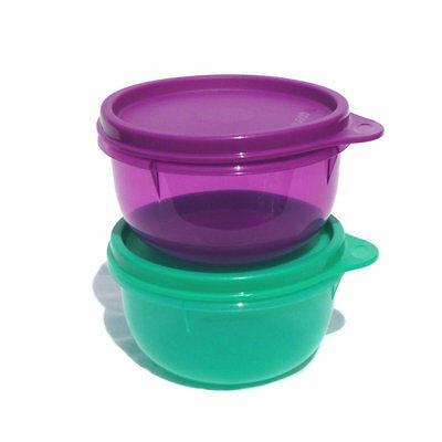 Tupperware 1 x Ideal Lil Snack Bowl Cup Pick from Purple or Jade NEW 250ml