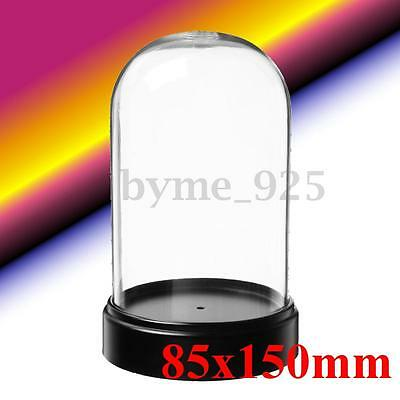 Acrylic Clear Box Bell for Product Show Toy Display Case Toys Dustproof 85x150mm
