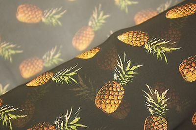 Pineapple Passion Print Chiffon Fabric