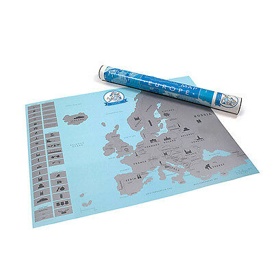 Scratch Europe Map DIY Art Paper Travel  Personal Mark Wall Decoration Gift GYTH