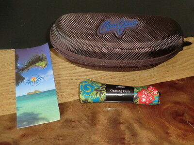 Maui Jim Brand New Zip Case Large~Inc Soft Cleaning Cloth Pouch~Free P&p!