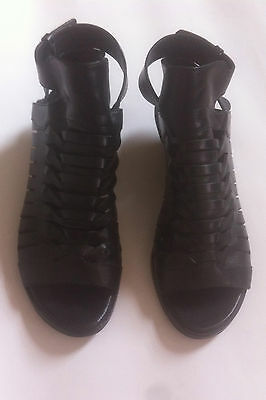 Alexander Wang black leather sandals size 37 / UK 4