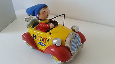 NODDY 'The Toys Museum' Mechanical Wind-Up Tin Toy Car - RARE - AS NEW IN TIN