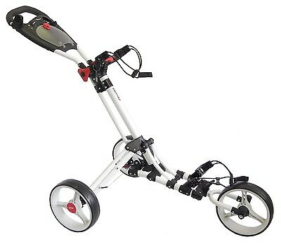 Bullet Easy Fold 3 Wheel Trolley in White