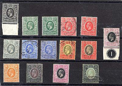 East Africa & Uganda KGV 1912/22 Collection of 15 Mint/VFU X4908