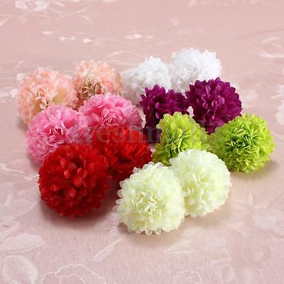 10/30/50Pcs Silk Fake Artificial Gerbera Daisy Flowers Heads Wedding Party Decor