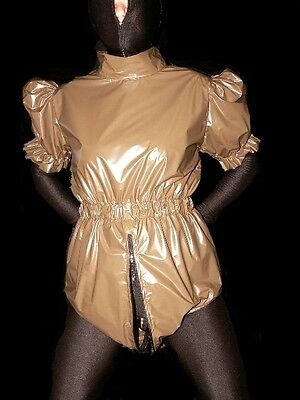 ADULT Sissy BABY Romper Windel body PVC diaper onsie rubber incontinence XL