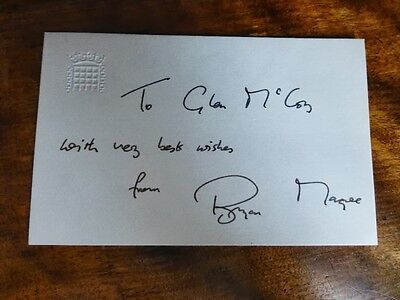 AUTOGRAPH of BRYAN MAGEE - POLITICAL Broadcaster Poet, Author & Former Labour MP