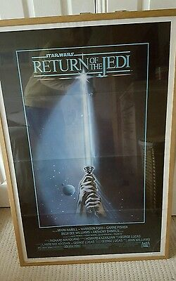 RARE Tri Folded STAR WARS RETURN OF THE JEDI Original One sheet movie post