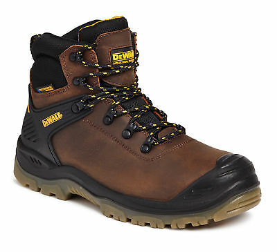 DeWalt Newark S3 brown waterproof safety boot with midsole size 6-12 UK