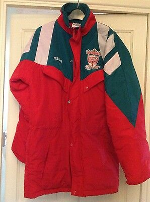 Vintage Liverpool Fc 1992 Souness Managers Jacket 34/36 *rare*