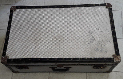 a lovely vintage mossman of london aluminium travel trunk