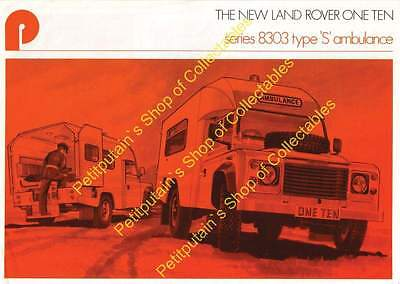 Land Rover 110 Series 8303 Type S Ambulance 1983  PDF ELECTRONIC COPY SEE ADVERT
