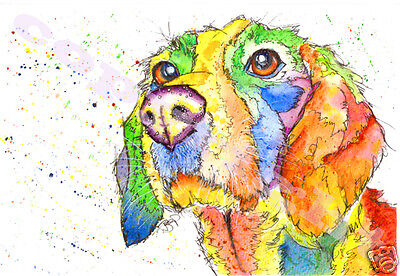 BEAGLE Hound PRINT of Original Watercolour DOG Painting by JOSIE P Watercolor