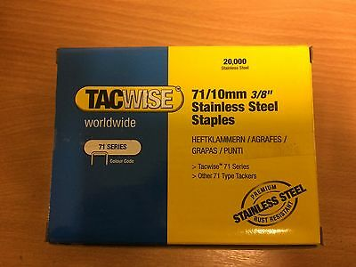 Tacwise Type 71/ 10mm Stainless Steel Staple - Box of 20000
