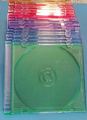 Cajas protectoras CD DVD Azul verde Naranja Orange Pink Pack 18 unidades Units