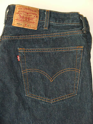 vtg 90s Levi's 501 Button Fly Blue Jeans Made in USA 100% Cotton Size 41x29 EUC
