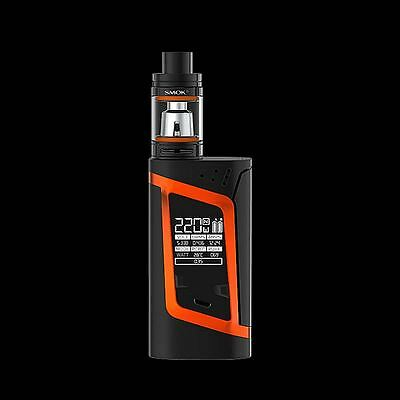 Genuine Smok Alien 220W TC Mode Kit + 2 Samsung Batteries TFV8 Baby Tank Orange