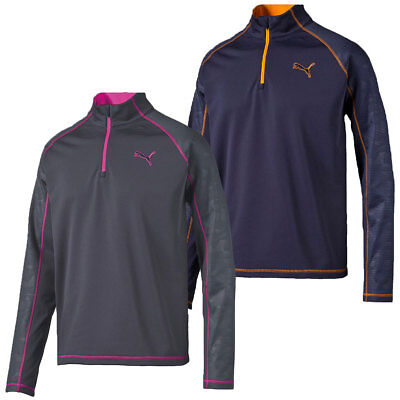 Puma Golf Mens Ice Stripe 1/4 Zip Popover WarmCELL Tech Pullover 47% OFF RRP