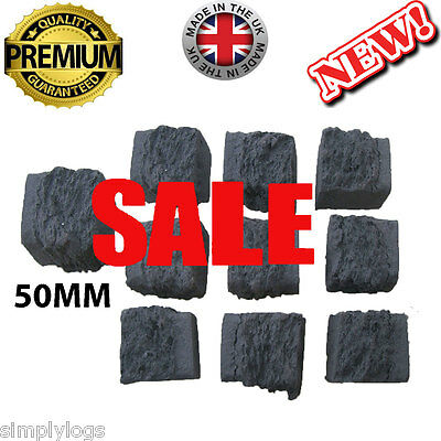 30 Gas Fire Replacement Coals Coal Square Ceramic Special 50Mm Offer New Seller