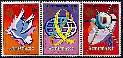 Aitutaki 1983 Communications Year Mail Letters Pigeon Space Telecomms Radio MNH