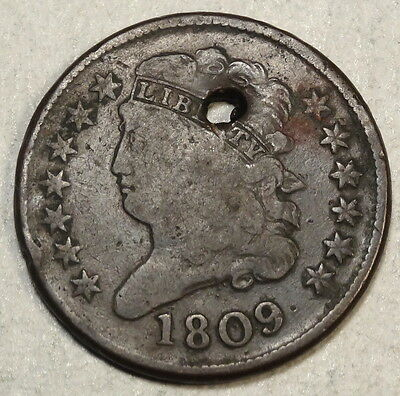 1809 Classic Head Half Cent, Inexpensive Type Coin 1207 -04