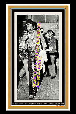 JIMI HENDRIX L.E. 8x12 PHOTO OF JIMI BACKSTAGE 1968. ALMOST SOLD OUT #`D PIECE
