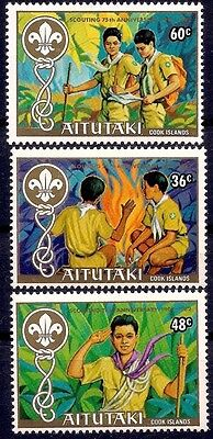 Aitutaki 1983 Scouts Scouting Fire Youth Leisure 3v set MNH