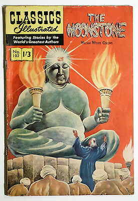 Classics Illustrated No.102, The Moonstone by William W Collins. UK Edition.