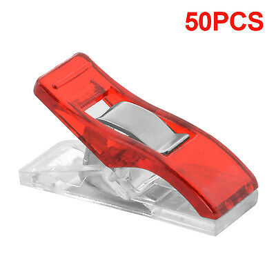 50pcs/100pcs Plastic Wonder Clips Clamps Fabric Craft Sewing Holder Quilter