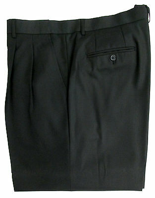 New Black Pleated Front Suit Dress Formal Pants Free Shipping Big & Tall