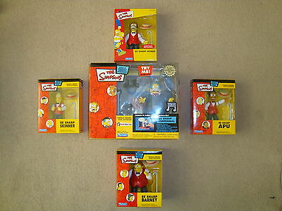 THE SIMPSONS WOS World of Springfield BE SHARP CENTENNIAL SET FIGURES BNIB