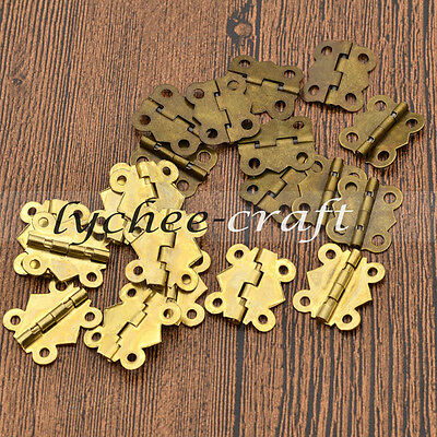 10pcs Butterfly Hinges with Screws Woodworking Boxes Accessories DIY Tool
