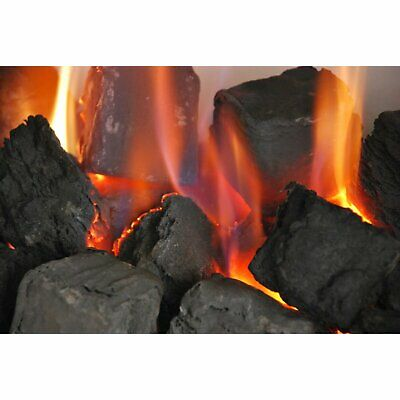 Gas Fire Replacement Coals Medium Black Square Coal premium quality WELSH 45mm