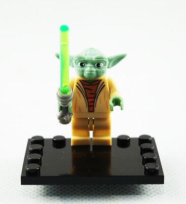 Minifigures Star Wars Yoda The Force Awakens Jedi Lightsaber Movie Building Toy
