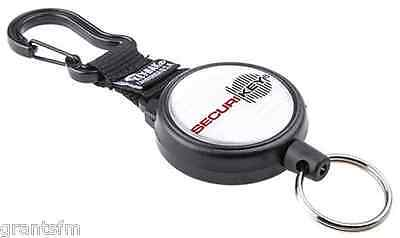 Securikey Karabiner Key Ring Reel Extendable Retractable Kevlar Cord Heavy Duty