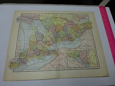 1903 Map of Province of Ontario - FREE SHIPPING