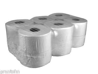 12 x 2 Ply Mini Jumbo Industrial White Toilet Tissue Paper Roll 150m Long
