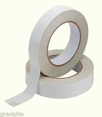2 x Quality Double Sided Adhesive Sticky Tape 25mm X 33m Mounting Sellotape