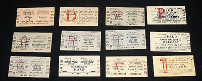 Vintage Group Lot Ireland Irish Railraod Railway Train Rr Ticket Fare Pass