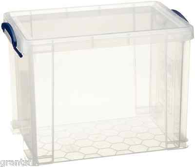 Really Useful 19L Clear Box for A4 Suspension File Files / A4 Paper Reams