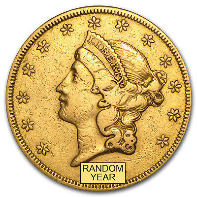 $20 Liberty Gold Double Eagle (Type 1) - Random Year - Cleaned